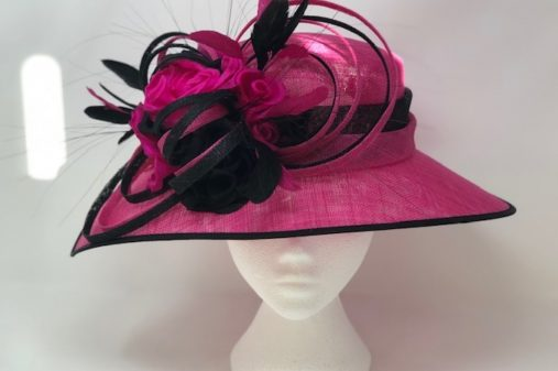 Fushia black hat
