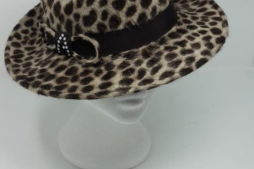 Leopard Print Peachbloom trilby