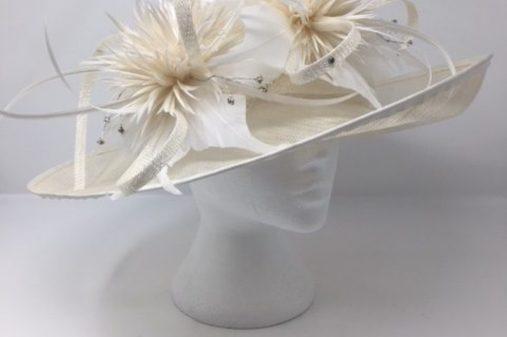 ivory cream hat