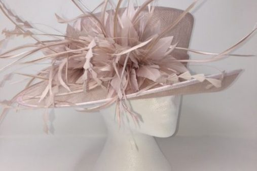 nude pink hat