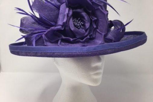 purple navy hat