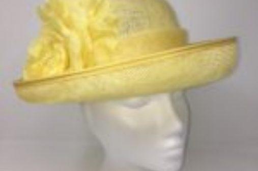 small primrose yellow hat