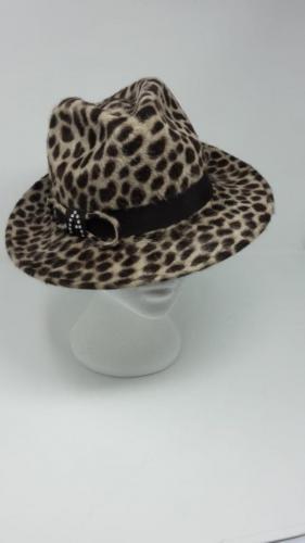 Leopard Print Peachbloom<br> trilby<br>