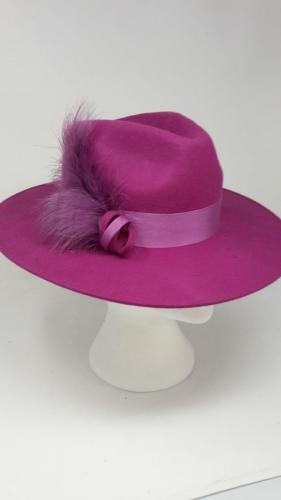 Flat Brim Felt  hat <br> £89.00